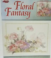 Lanarte Floral Fantasy Counted Cross Stitch Chart Leisure Arts 3607