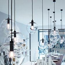 3pcs Clear Glass Chandelier Pendant Light Living Room Kitchen Island Fixture US