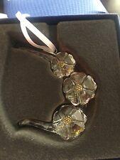 Swarovski Crystal Scs Wild Flowers Ornament 2017 #5244637 - Nib
