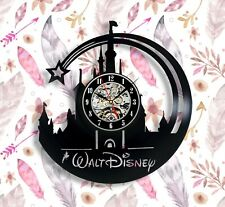 Disney castle Vinyl Wall Clock 12 Inches mickey mouse Gift For Men And Women