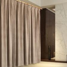 A Pair Blockout Curtains  2x210cmx230cm Drop, Light Brown AC223B
