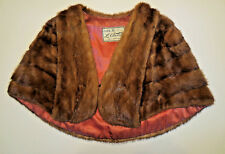 Gorgeous Luxurious Mahogany color Vtg MINK Fur Stole Wrap Cape