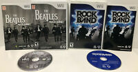 Lot of 2 Wii Games ! The Beatles: Rock Band + Rock Band ! (Nintendo Wii) ! CIB