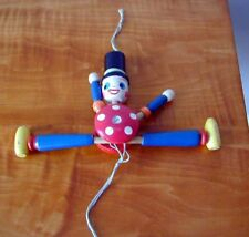 1940's VINTAGE TOY SOLDIER WOOD CRIB PULL CORD ACTION MOVING ARMS,LEGS EXCELLENT