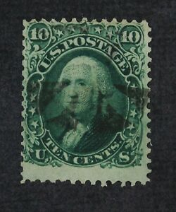 CKStamps: US Stamps Collection Scott#68 10c Washington Used CV$60