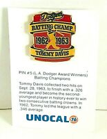 Pin #5 L.A. Dodger Dodgers Batting Champ Timmy Davis Unocal 76