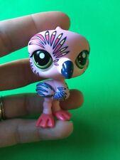 Littlest Pet Shop LPS #1438 Pink Flamingo Bird Postcard Pet Green Eyes Tattoo