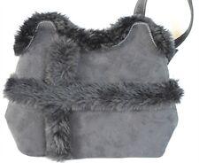 Fur Trimmed Designer Purse