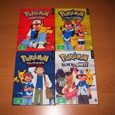 POKEMON ~ Bulk Lot of 4 DVDs Box Set Bundle ( Season 1, 7, 8 & 14 )