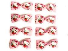 🌼 Printed Grosgrain Ribbon Hair Clips Bow 8 pcs. Scrapbook Gift Hello Kitty BK5