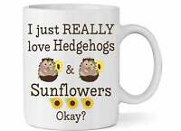 Hedgehog And Sunflower Coffee Mug Cute Hedgehog And Sunflower Latte Tea Mug