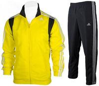 Mens Adidas Full Zip Tracksuit Woven Jog Suit TS Basic 3Stripe Top/Pants AB7450
