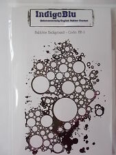 BUBBLES BACKGROUND - CLING MOUNTED RUBBER STAMP INDIGOBLU