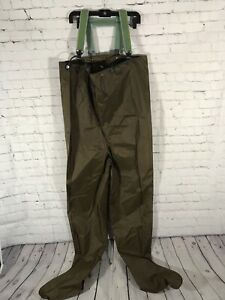 Vintage Cabellas Waist High Waders Once Piece Fishing Waterproof USA MADE Outfit