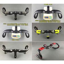 TOSEEK Carbon Road Bike Bicycle Racing Drop Integrated Bar Stem Rise Handlebar
