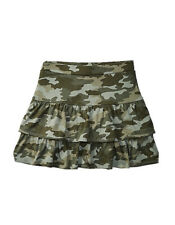 New! Justice Girls Teired Ruffle Skirts Camouflage Color Size 6
