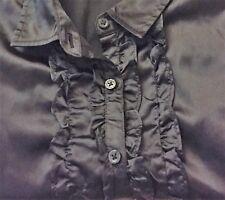 Black Vest and Short sleeve Satin shirt