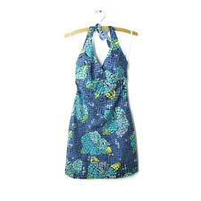 Lilly Pulitzer size 0 mosaic tropical Molokini print halter dress lined cotton