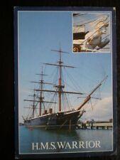 POSTCARD HMS WARRIOR  AT PORTSMOUTH