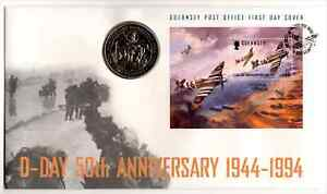 Guernsey 1994 50th Anniversary of D-Day £2 Coin Cover
