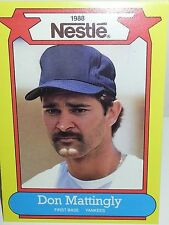 1988 Nestle Cocoa Foods Dream Team Baseball Card Don Matingly Ball 12 Available