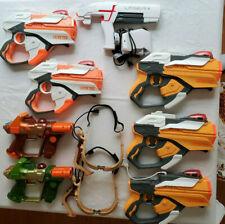 Lot of 8 Laser Tag Guns 2 Goggles Hasbro Team Ops Laser X Lazer Tag