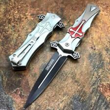 Couteau Tac Force A/O Gothique Celtic Cross Lame Acier 440 Manche Red TF817RD