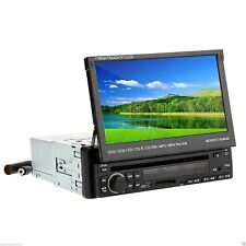 "7"" FLIP OUT CAR AUDIO TOUCHSCREEN RECEIVER DVD CD iPod PLAYER RADIO BLUETOOTH SD"