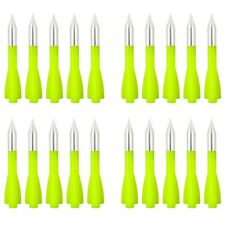 SPEED TRACK 20Pcs Green 3'' Aluminum Arrows for 30-100lbs Cobra Pistol Crossbow