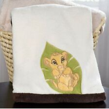 "NEW DISNEY BABY THE LION KING SIMBA JUNGLE LEAF SOFT BABY BLANKET.  30"" X 40"""