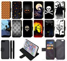 SPOOKY SCARY HALLOWEEN PUMPKIN SKULL GHOST Wallet Flip Phone Case Galaxy (S2)
