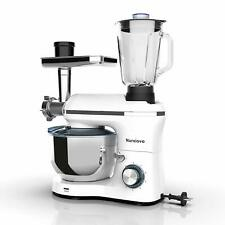 3in1 850W 6 Speeds Tilt-Head Stand Mixer+Meat+Grinder Blender w/ 7Qt Bowl White