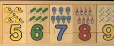 BN WOODEN NUMBER PUZZLE-GR8  GIFT IDEA