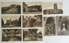8 Vintage Sepia R/P Postcards ~ Great Condition, Various Dunster Views, Somerset