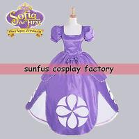 Adult Hot Movie The First Princess Sophia Sofia Purple Dress cosplay costume