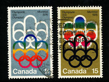 Olympics Used North American Stamps