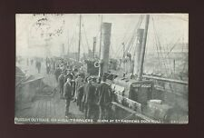 Yorkshire Yorks HULL St Andrew's Dock Russian Trawler Outrage 1904 PPC