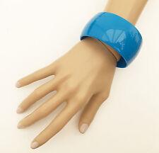 Splendido 4 cm di larghezza e trama grossa blu Bracciale Bangle