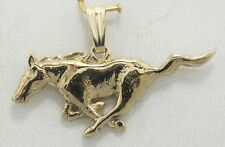 Horse Mustang  Pendant 14k yellow solid gold Equestrian Pony (small)