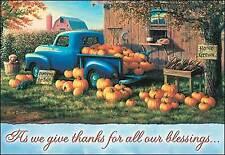 Leanin' Tree Thanksgiving Card  - Old Truck, Pumpkins & Barn Theme - ID#520