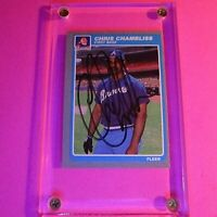 SIGNED - 1985 Fleer #322 Chris Chambliss Braves Autograph Auto