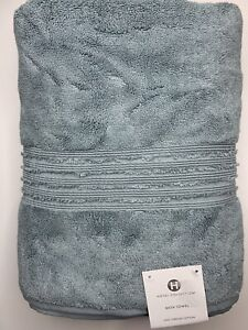 "New Hotel Collection Turkish Cotton Large Bath Towel Vapor Blue 30"" x 56"""