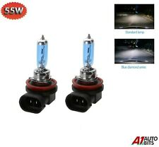 2x H11 55w Xenon White Headlight Front Fog Light Replacement Bulbs Hid Effect