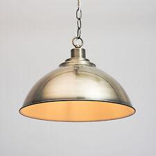 Modern Dome Shape Designer Pendant Ceiling Light & Chain - Antique Brass