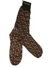 NEW $100 DOLCE & GABBANA Socks Mens Gray Green Cotton Tomato Garlic Print  s. M