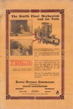 1924 Zenith Carburetor Ad /  Zenith-Detroit Corp