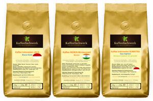Asien Kaffee Probierpaket 3x250g ♥ Kaffee Probierset Java Malabar Sumatra