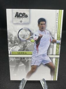 2007 Ace Authentic Straight Sets Novak Djokovic Rookie RC #16