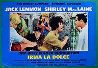 T28 Fotobusta Irma Die Sweet Jack Lemmon Shirley Mac Laine Billy Wilder