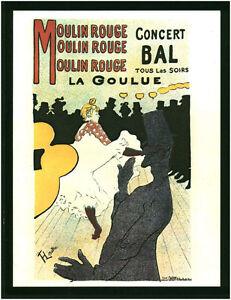 Document vintage issu de magazine année 70/80 moulin rouge la goulue